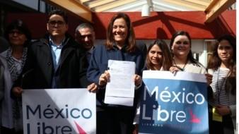 Partido México Libre, de Zavala y Calderón, cumple requisitos del INE