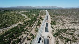 Se prevé que para finales de marzo quede concluida la carretera Estación Don- Nogales