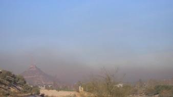 VIDEO: Densa capa de humo negro y polvo cubre Hermosillo
