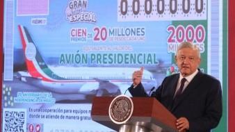 Se entregarán 100 premios de 20 millones, dice AMLO.