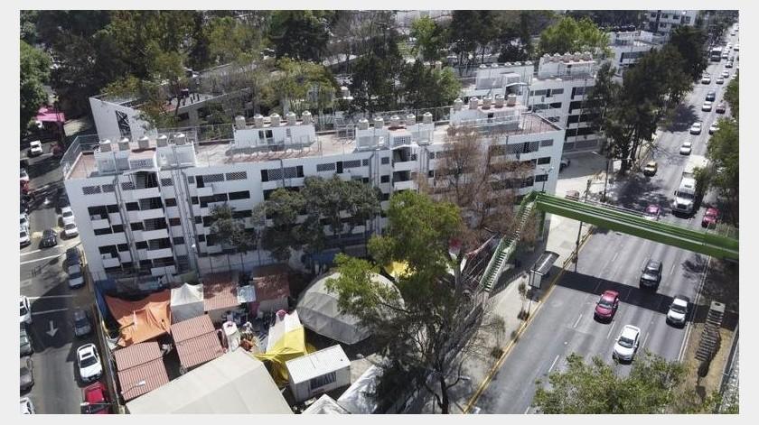 El Multifamiliar Tlalpan fue construido en 1957 como un experimento optimista en planeación urbana en una zona que entonces era un suburbio al sur de la ciudad.(AP)