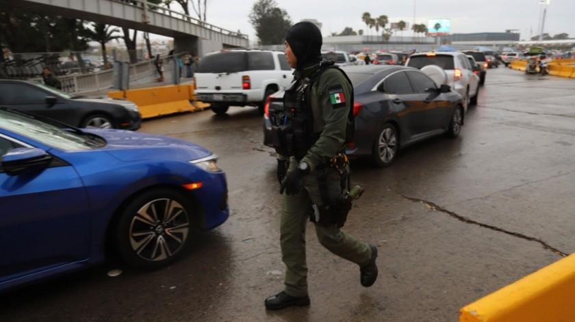 Diferentes dependencias participarán en los operativos permanentes en Otay y San Ysidro.(Sergio Ortiz)