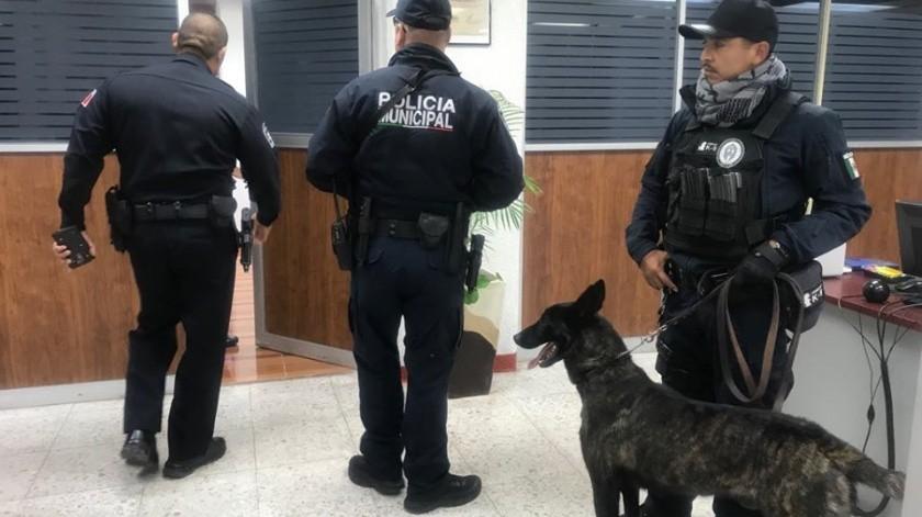 Elementos de seguridad resguardaron el Instituto Tecnológico de Nogales.