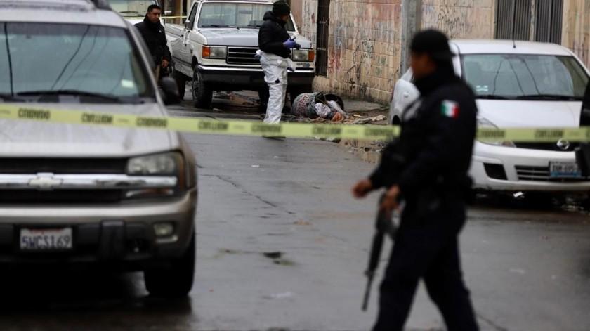 Un cadáver fue encontrado en un bote de basura en la Zona Norte.(Sergio Ortíz)
