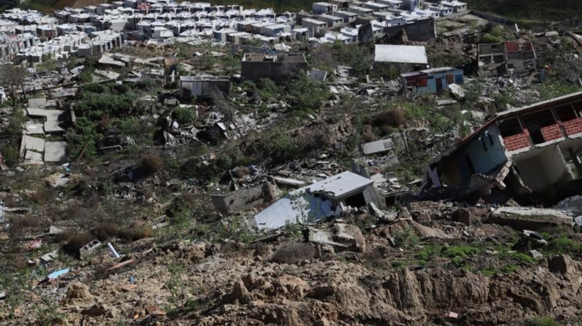 Hace dos años que se registraron los derrumbes de Lomas del Rubí.(Sergio Ortiz)