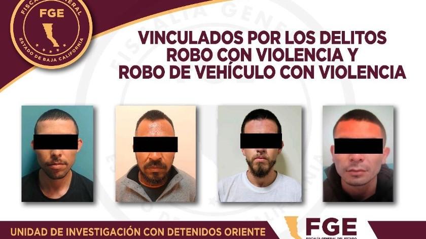 Vinculan a proceso a 4 imputados por robo con violencia a comercio y robo de vehículo(Cortesía)