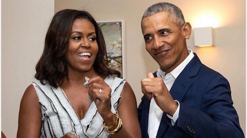 Derriten Michelle y Barack Obama con mensajes de San Valentín(Instagram)