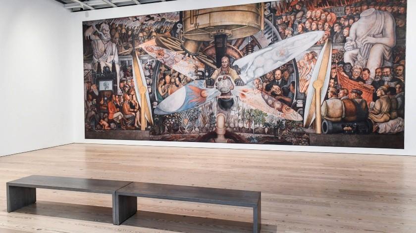 """Imagen ofrecida por el museo Whitney de Nueva York que muestra el mural """"El hombre controlador del universo"""", del artista mexicano Diego Rivera.(AP)"""