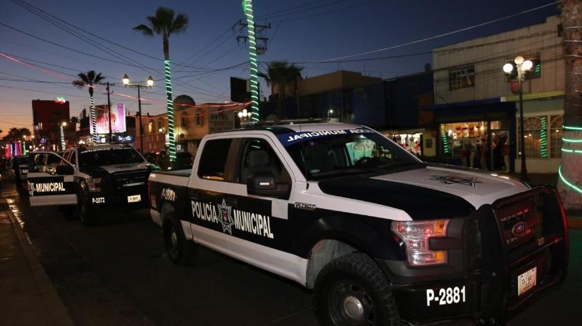 Operativo en calles de la Zona Norte, en el Centro de Tijuana.(Cortesía)