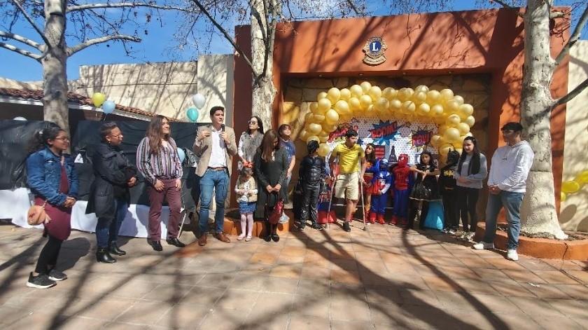 Nueve niños supervivientes de cáncer conmemoraron junto a sus familias el Día Internacional de la Lucha contra el Cáncer Infantil en Nogales.(Rubén Ruiz)