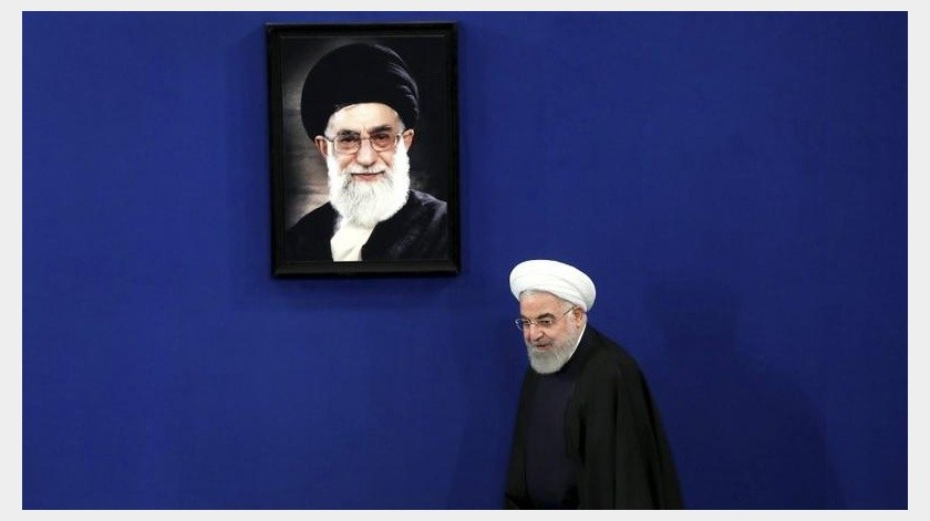 Rouhani reiteró que Estados Unidos debería regresar al acuerdo nuclear si quiere volver a las negociaciones.(AP)