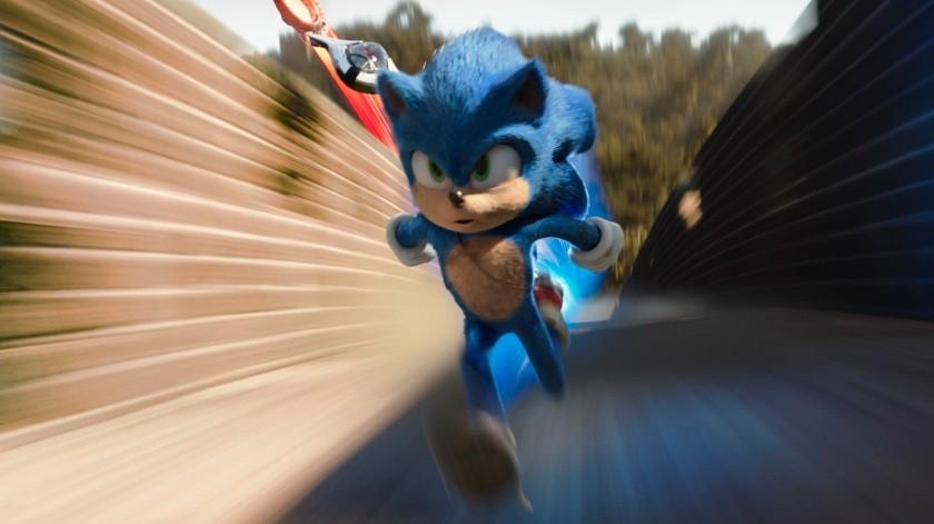 """Sonic, con la voz de Ben Schwartz, en una escena de """"Sonic the Hedgehog"""" en una imagen proporcionada por Paramount Pictures.(AP)"""