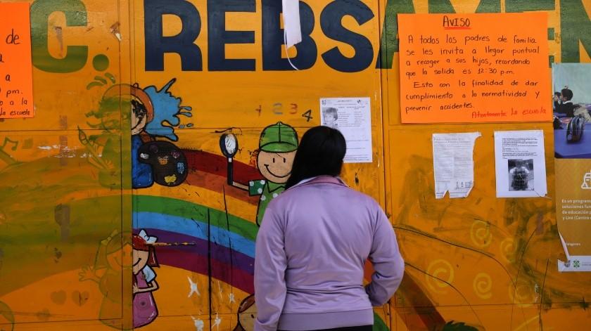 Vista de la escuela donde estudiaba la niña Fátima, hallada sin vida cerca del lugar, en Ciudad de México.(EFE)