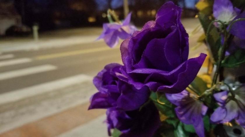 En el cruce peatonal donde ocurrió el accidente, se han colocado flores y globos en su memoria.(Rae Daniel)
