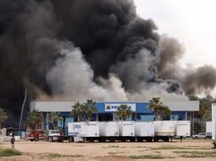 Incendio en la empresa Fanosa