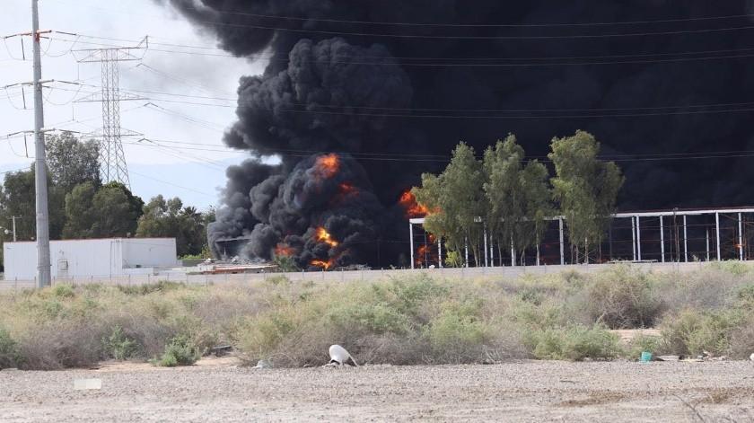 Incendio en la empresa Fanosa(Javier Gallegos)