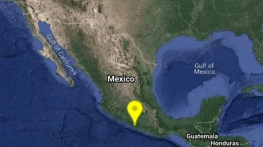 Sismo magnitud 5.2 sacude Guerrero y se percibe en CDMX(Twitter @SSNMexico)