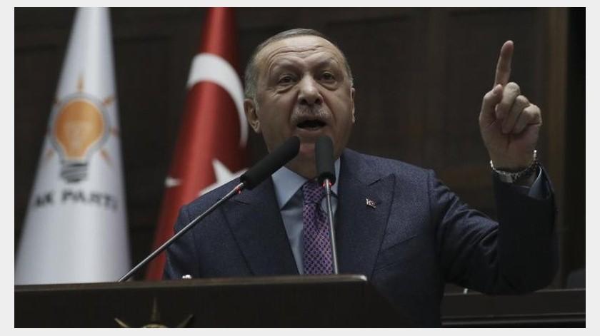 """Erdogan advirtió esta semana de una operación """"inminente"""" contra Siria para hacerle retirar detrás de las posiciones turcas para el final de febrero.(AP)"""