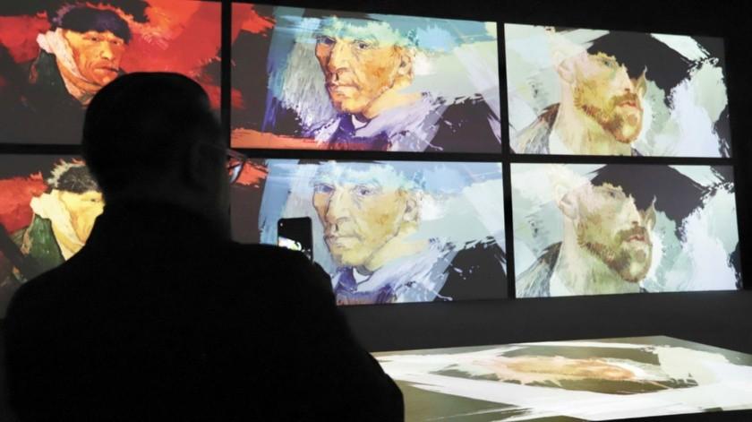 La exhibición cuenta con más de 3 mil imágenes del arte del pintor holandés Vicent Van Gogh.(El Universal)