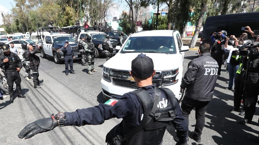 La pareja acusada por el feminicidio de Fátima fue trasladada a Ciudad de México.(EFE)