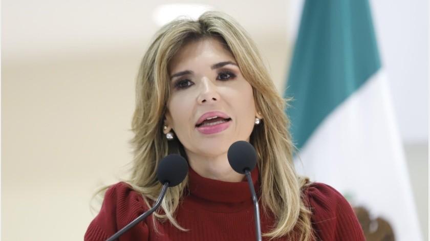 """La gobernadora de Sonora, Claudia Pavlovich Arellano se sumó al Paro Nacional, """"Un día sin nosotras"""".-(GH)"""
