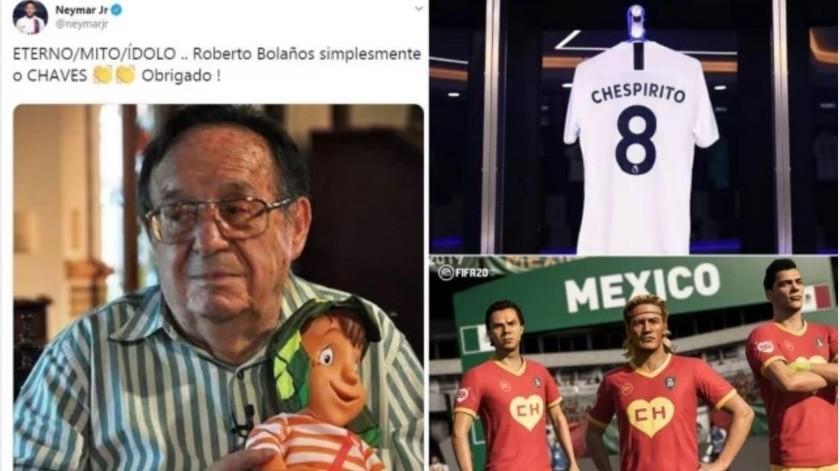 """Honran memoria de """"Chespirito"""" en el mundo del futbol(GH)"""