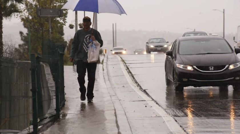 Lluvias ligeras y bajas temperaturas se esperan este fin de semana en Tijuana.(Cortesía)