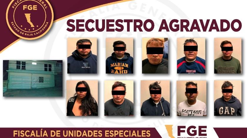 Diez personas fueron detenidas por el probable delito de secuestro agravado.(Cortesía)