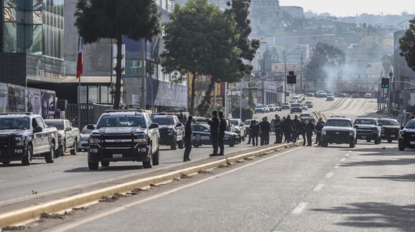 Desde el miércoles por la noche está cerrada la circulación frente a la Fiscalía por la detención de un narcotraficante.