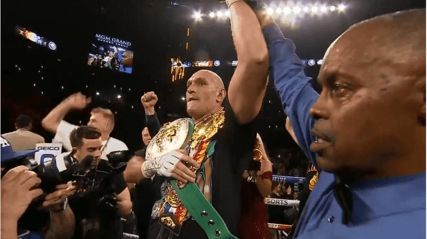 ¡Viva el Rey de los Gitanos! Tyson Fury consigue campeonato mundial al noquear a Deontay Wilder(Captura de pantalla)