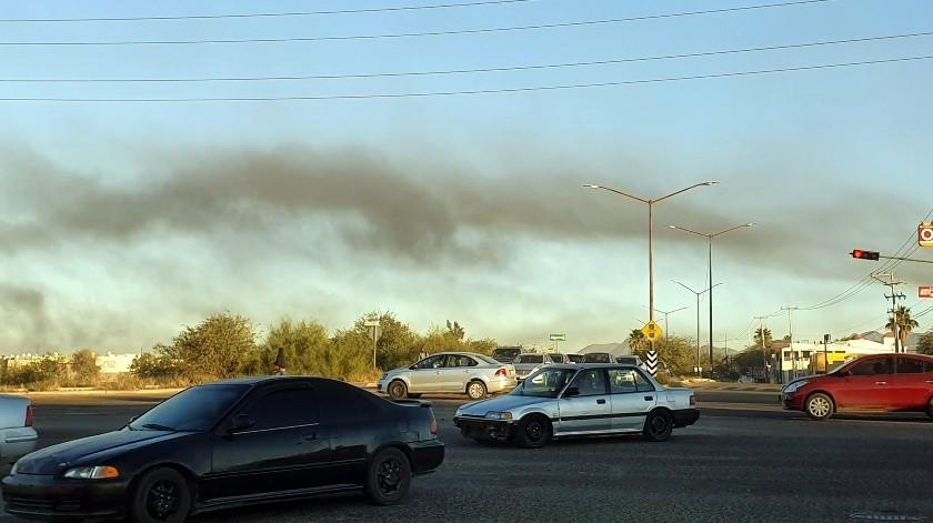 Un depósito de autos se incendió el pasado 28 de enero a un costado del bulevar José Alberto Healy Noriega.(Julián Ortega)