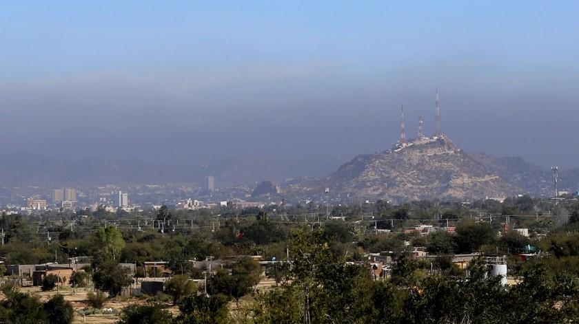 Así se observó desde el sur de la ciudad, el pasado 6 de febrero.(Julián Ortega)
