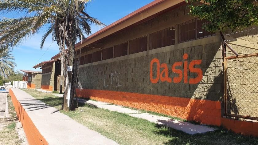 Por las noches, el centro deportivo Oasis se convierte en un lugar inseguro.(Gamaliel González)