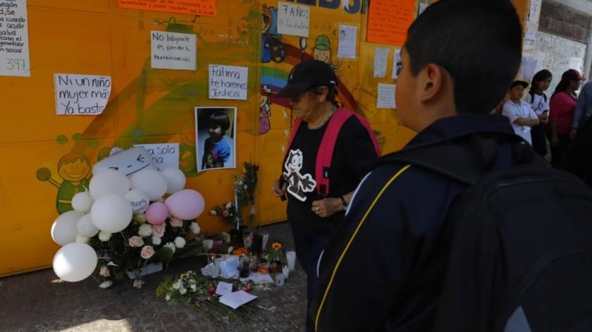 Uno de los casos más recientes y que ha generado mayor indignación es el de Fátima, de 7 años, cuyo cuerpo fue encontrado con signos de tortura y abuso sexual el pasado 15 de febrero .(Agencia Reforma)