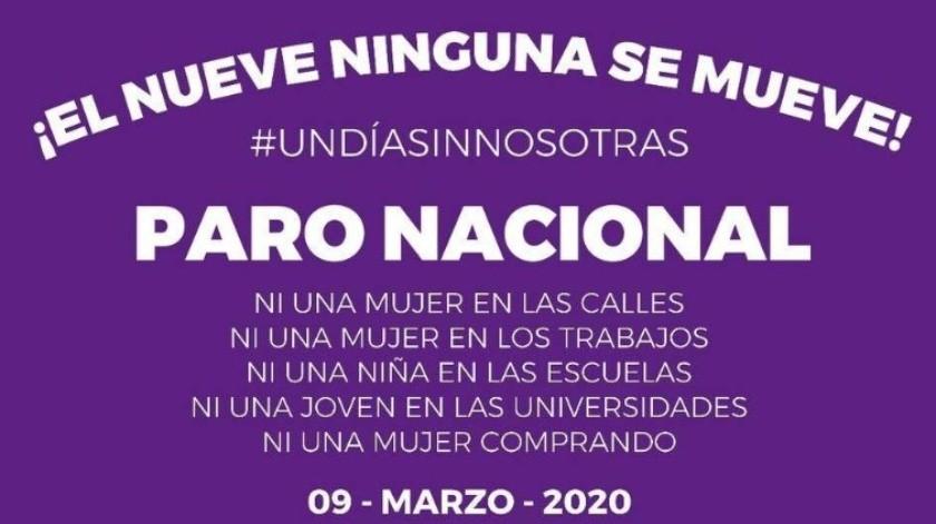 El paro nacional 'Un día sin nosotras' fue convocado inicialmente por el colectivo Brujas del Mar.(Twitter)