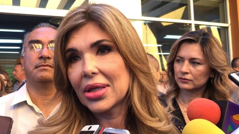 La gobernadora, Claudia Pavlovich, dijo que ella no juzgará o calificará los hechos registrados en el Poder Judicial tras la marcha feminista del domingo en Hermosillo.(Yamileth Hernández.)