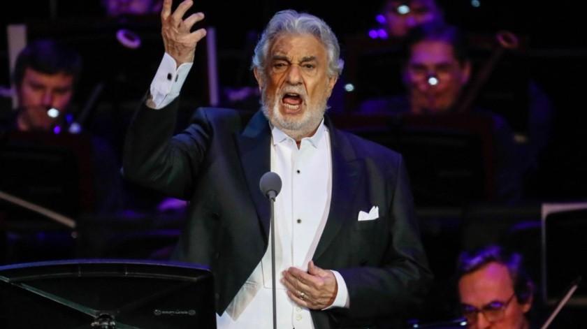 El tenor español Plácido Domingo.