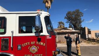 Choca contra una casa en Yuma
