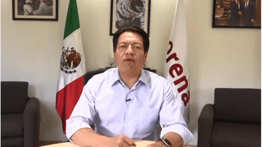 El coordinador de los diputados de Morena, Mario Delgado, felicitó y aceptó como líder nacional interino de este instituto político a Alfonso Ramírez Cuéllar(Captura de pantalla)