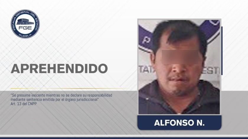 """El acusado fue identificado como Alfonso """"N"""" y ya fue detenido por las autoridades."""