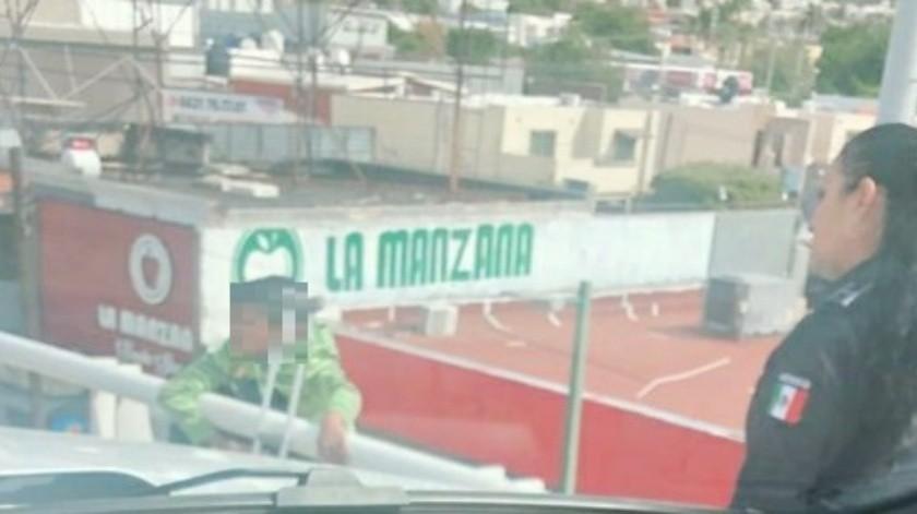 El menor intentó atentar contra su vida en el puente de Periférico y Morelos.(Cortesía)