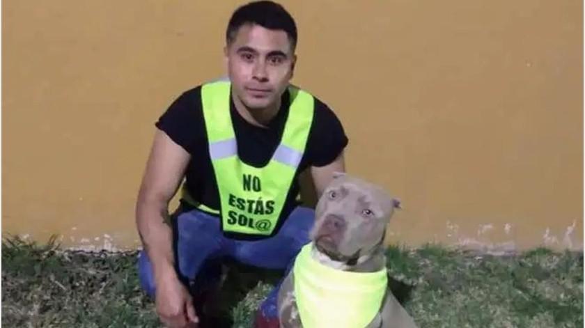 Joven convierte paseos con su perro en rondines de seguridad(Facebook)
