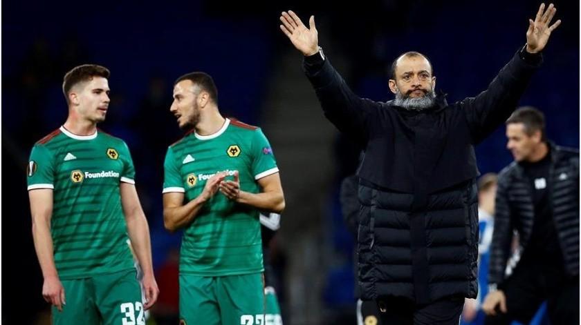 Wolves y Raúl Jiménez a cuartos de final tras golear al Espanyol en Europa League(EFE)