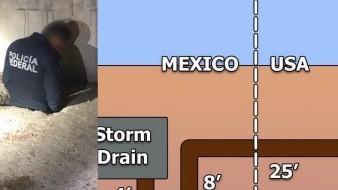 Revelan detalles de un túnel hallado entre México y EU