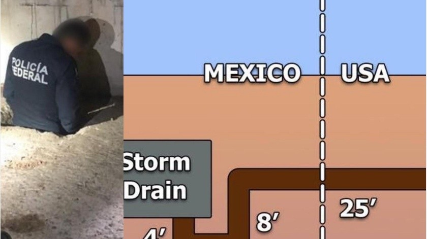 El Departamento de Aduanas y Protección de Fronteras (CBP, por sus siglas en inglés), confirmó que es el narcotúnel número 126 en el sector Tucson...(Especial)