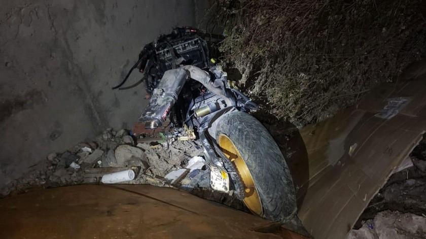 La moto involucrada.
