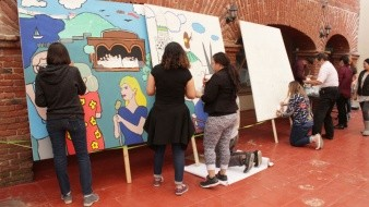 Durante el primer día de actividades se contó con la participación de público en general y estudiantes de la primaria Lázaro Cárdenas.