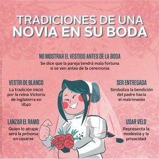 Tradiciones de una novia en su boda