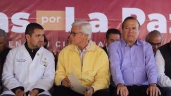 El gobernador del Estado, Jaime Bonilla, encabezó la Jornada por La Paz.