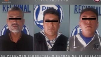 Se presentaban como miembros del CJNG, detienen a tres extorsionadores en Edomex